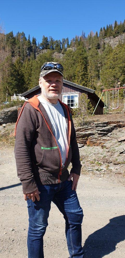 Mangeårig campinggjest Helge Dillerud fra Stange ble dagens helt på Rustberg camping i Øyer.