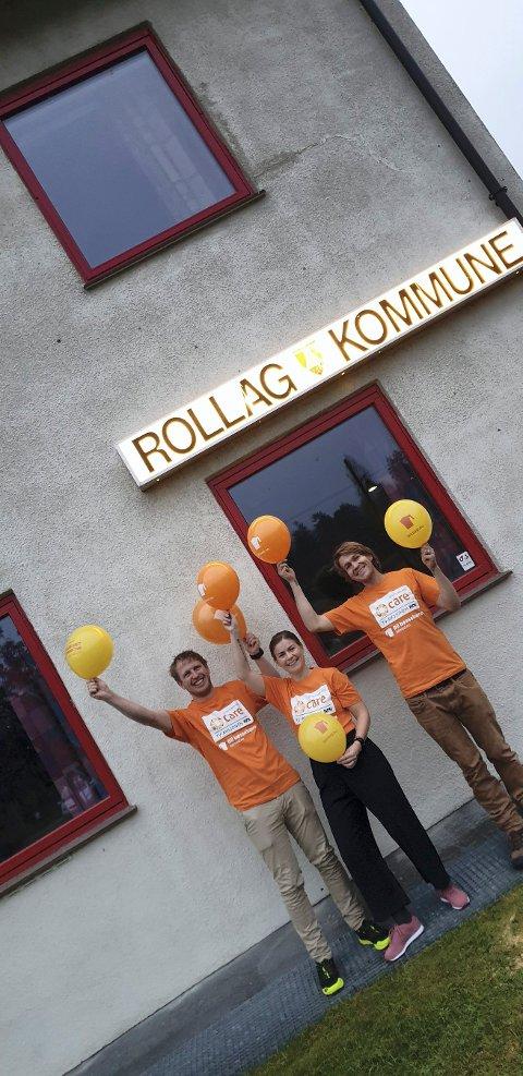 KLARE TIL AKSJON: Hellik Lislien (varaordfører), Helena Hafthorsdottir Lindheim (kulturkonsulent/koordinator for TV-aksjonen) og Knut Kittil Lindheim (bøssebærer) er klare til innsats for TV-aksjonen.