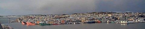 Kristiansund havn sett fra Nordlandet.