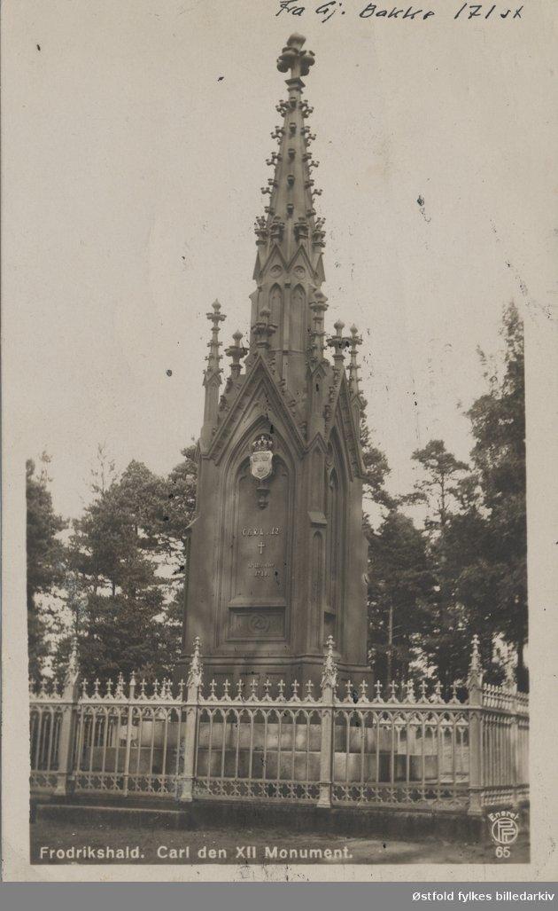 SVENSK: Det fjerde monumentet ble reist av den svenske armé i 1860.