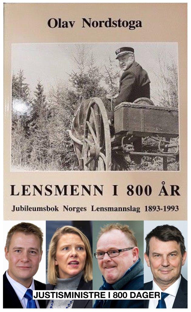 Skal tru kva lensmann Nordstoga ville ha tykt om korleis etaten som i 800 år vart utvikla og spreidd ut i lokalsamfunna våre, har vorte styrt dei siste 800 dagar?