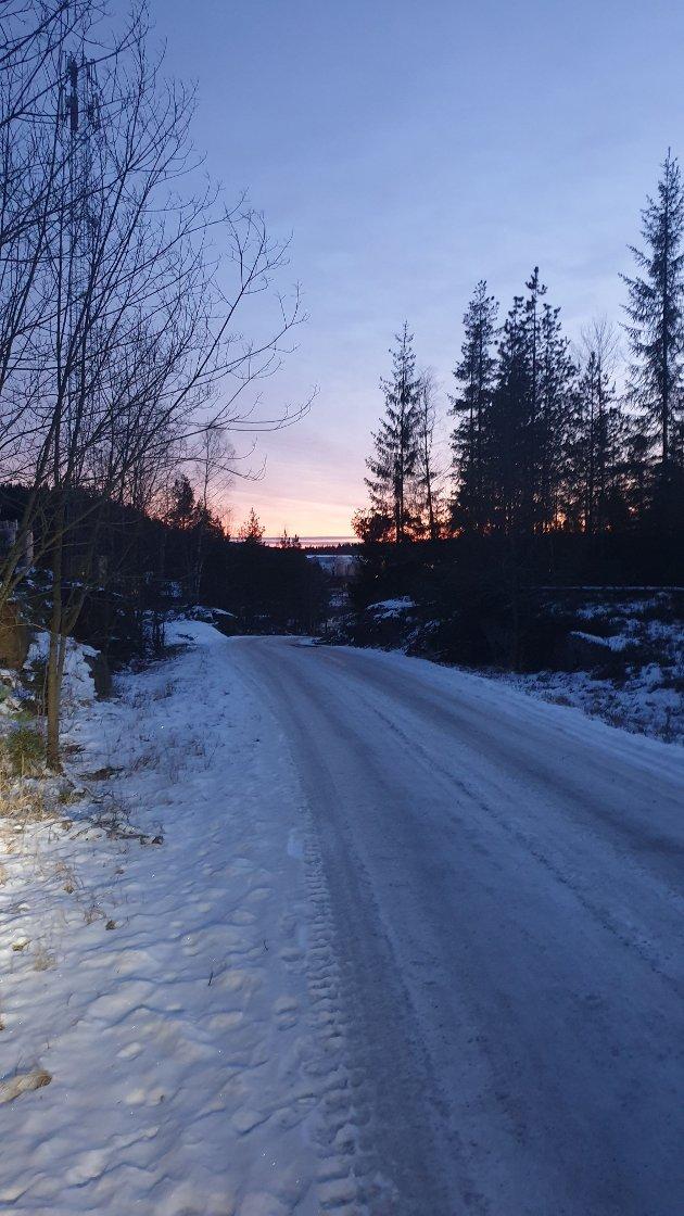 Vinter i kragerø, lite snø er nok mange glad for i år.