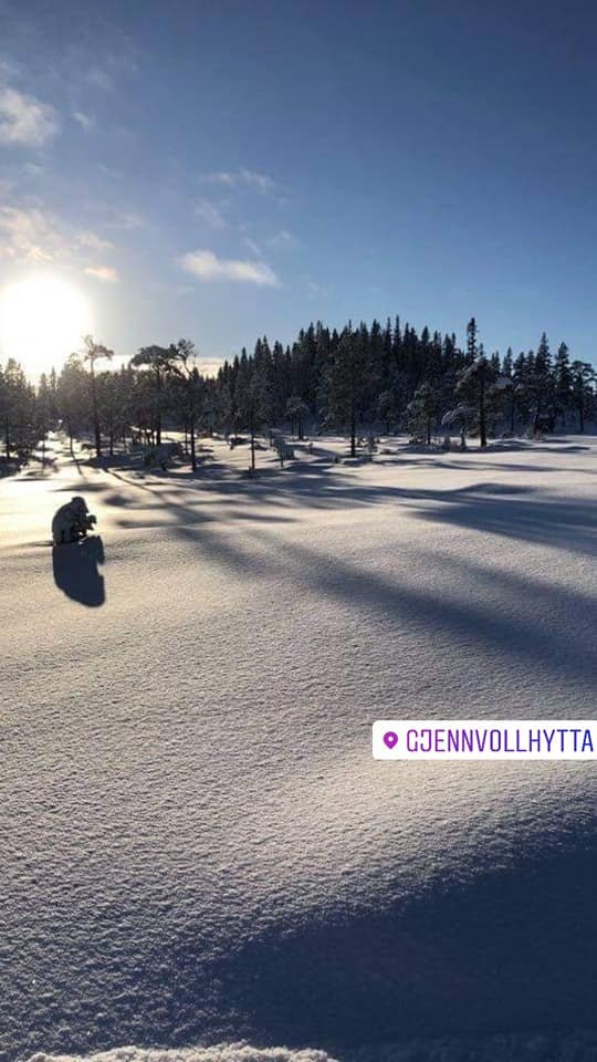 Siri B. Røddesnes har hatt en tur til Gjenvollhytta i Klæbu søndag.