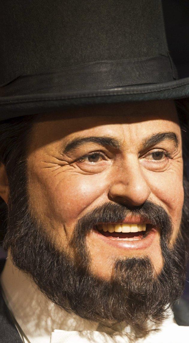 Luciano Pavarotti: Sverre Stang hyller i dag den fremste tenoren gjennom alle tider: Luciano Pavarotti. Her i voksskikkelsen som er å beskue i Madam Tusseaud.