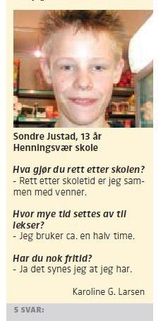 13 år gamle Sondre i en fem på gata.