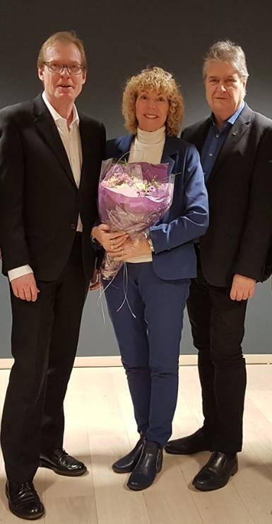 Fra v.: Torgeir Fossli, Aina Dahl og Kåre Pettersen