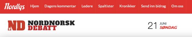 I Nordlys er det en egen side som heter Nordnorsk debatt. H-avis burde ha en liknende.