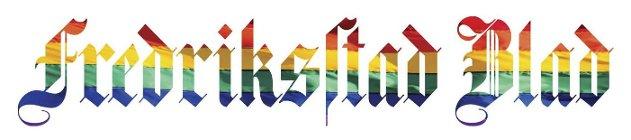 Symbolsk: Vi har endret logoen vår i dag, til støtte for homosaken og i avsky mot hatvold.