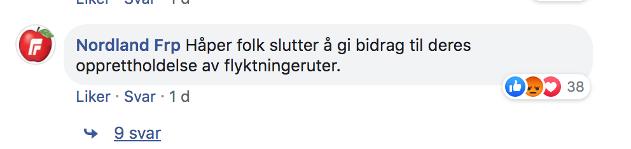 Screenshot fra Leger Uten Grensers Facebook-side