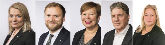 Geir Iversen, Sandra Borch, Willfred Nordlund, Siv Mossleth, Kari Anne Bøkestad Andreassen.