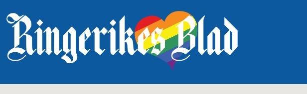 Slik vil logoen i Ringerikes Blad se ut i resten av juni.
