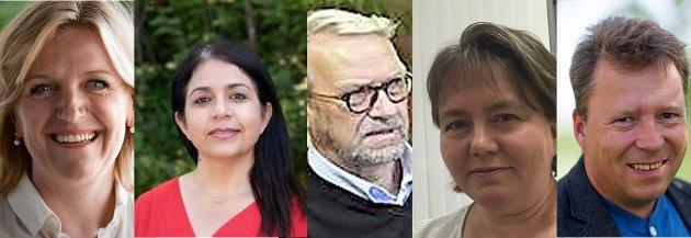 Hovedutvalg for Velferd med leder Cecilie Lindgren (Høyre), medlemmene Solav Abbas (AP), Arne-Edvard Torvbråten (PP), varamedlem Gro Buttingsrud (V) og Kent Lippert Olsen (KRF)