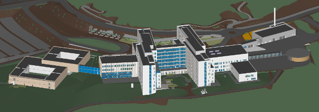 Det planlagte Sjukehuset Nordmøre og Romsdal (SNR) på Hjelset.