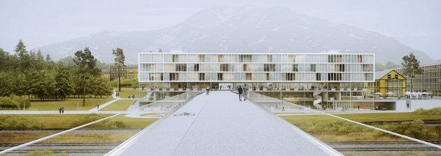 Narvik Forum: Dette arkitektforslaget til Europan 14 har tittelen Narvik Forum og erstatter dagens brannstasjon og teknisk rådhus. Forslaget inkluderer en gangvei fra teknisk kvartal og over til Frydenlund.