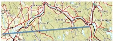 RETT: Slik tegnet Ivar Kulseth sitt forslag til trasé for riksvei 2/E16 i 2012.
