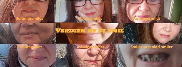 Når det å smile blir vanskelig.