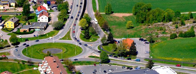 Flyfoto Østsiden rundkjøring