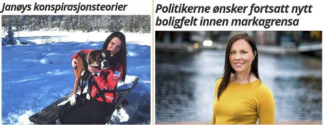 DEBATT: Cathrin Janøys (t.h.) innlegg ble først publisert på eikerbladet.no 18. mars. Kristin Gjerde svarte 22. mars.