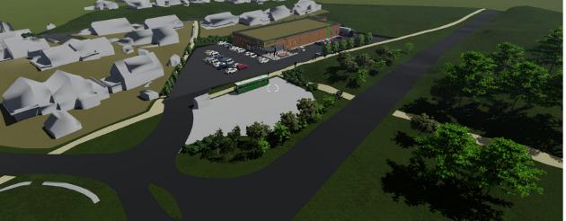 Illustrasjon: Slik kunne en ny nærbutikk blitt plassert ved Viste Hageby. Planpolitikerne i Randaberg sa nei.