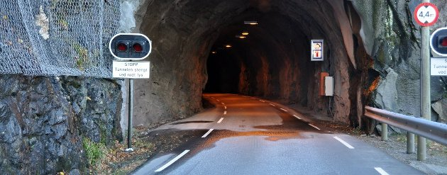 Furebergtunnelen ble bygd på kort tid under anleggsperioden. (Arkivfoto).