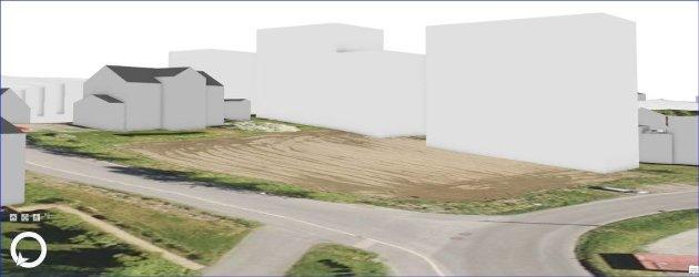 Bilde fra volumstudie hentet fra kommunens notat om Nordre Holter