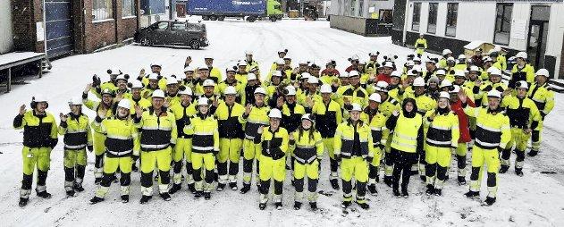 410 ansatte: Usikre tider har det vært før ved Hydro, men et mulig salg skaper stor usikkerhet hos mange av de ansatte.      Foto: Ulrikke G. Narvesen
