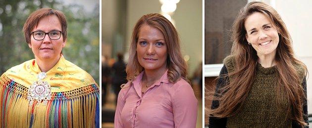 Sandra Borch, 1. kandidat og stortingsrepresentant Troms Senterparti  Trine Fagervik, 3. kandidat Nordland Senterparti  Nancy Porsanger Anti, 2. kandidat Finnmark Senterparti