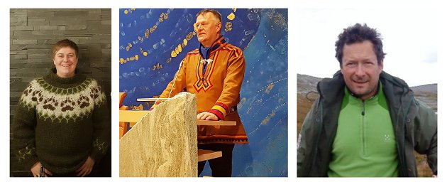Øyvind Lindbäck, Ingvild Halvorsen og Kjetil Romsdal, 1. og 2. kandidater i Avjovarre, Øst-Finnmark og Nordre valgkrets.