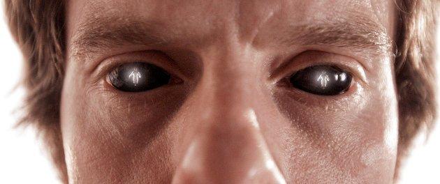 MØTER JESUS: Kristus speiler seg i øynene til VampyrVidar.
