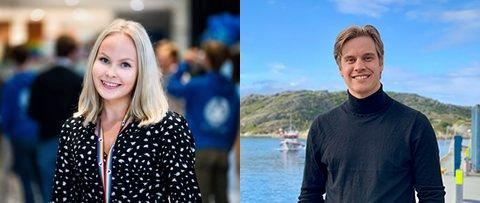 Tonje Nilsen og Johann Martin Krüger, 3. kandidat på stortingslista til Troms Høyre og 3. kandidat på stortingslista til Nordland Høyre