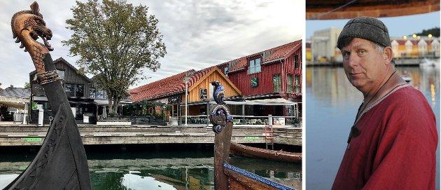 ATTRAKSJON: Vikingodden og skipene som ligger fortøyd utenfor gjenspeiler byens sjel og store attraksjon, mener Eivind Luthen, prosjektleder i Stiftelsen nytt Osebergskip.