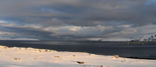 Vedbotn-anlegget til høyre, Jernøya bakerst til venstre