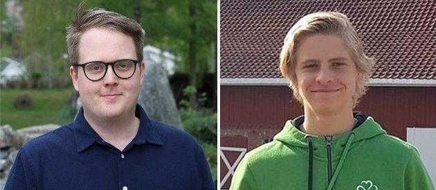 MATVARESIKKERHET: Magnus Weggesrud (t.v.) og Sigurd Herlung Sønju. er opptatt av selvforsyningsgraden av mat.