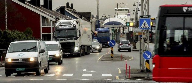 En del av et voksende problem: Riksvei 19 og havnetrafikken. foto: espen vinje