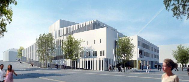 Opera- og kulturhus på Kongens Plass. Ill.: C.F. Möller