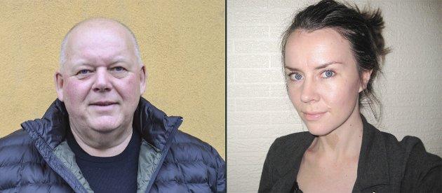 UENIGE: Per Kristian Dahl og Ingela Nøding diskuterer kommuneøkonomi og godkjenning av regnskap fra perioden da Dahl var ordfører.