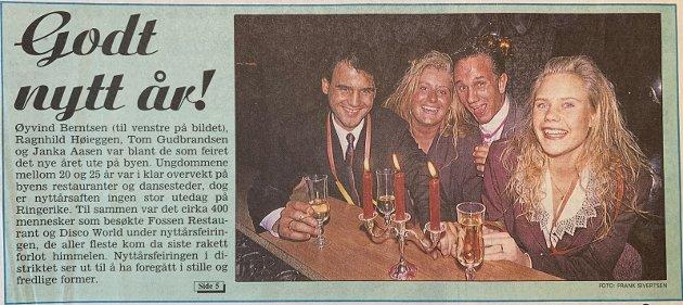 NYTTÅR: Fossen Restaurant og Disco World.