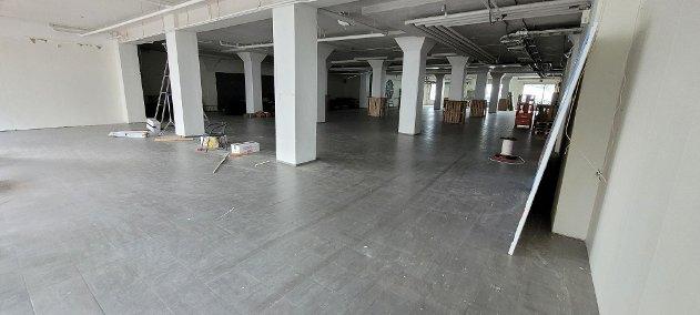 Slik så lokalet ut i starten av uken.