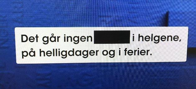 Busshumor: – Hva skjuler seg bak sladden?, spurte programleder Bård Tufte Johansen i «Nytt på Nytt».  Foto: Fra TV-skjermen, Pål Nordby