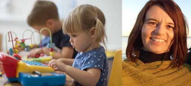 Det er mange barn som skal sees og mange ting å tenke på gjennom en arbeidsdag i barnehagen, forteller Vibeke Svendsen.