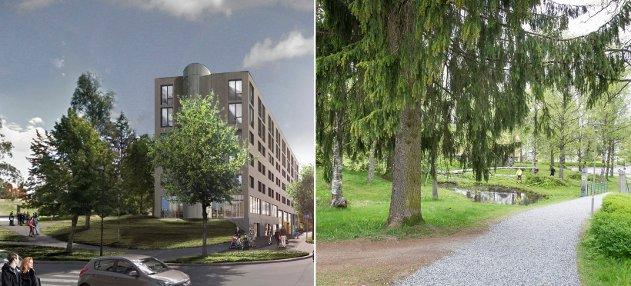 HOTELL ELLER PARK? Dette vil så totalt forandre bybildet i Midtbyen, spesielt for dem som har levd lenge i Kongsvinger, men også for alle oss andre, skriver Arne Normann.