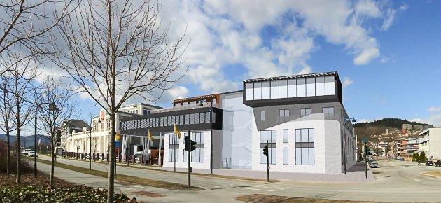 Planlagt utbygging av Aass Bryggeri, sett fra sør