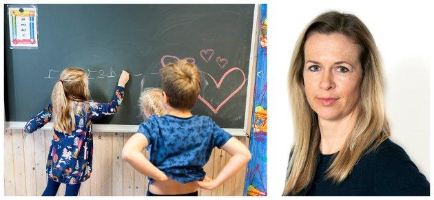 GRUNNSKOLEN: Flere gutter enn jenter sliter på skolen. Gode rollemodeller er viktig, men de mannlige lærerne er altfor få.