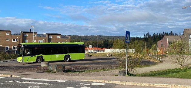 FEIL BRUK: Friareal er til for lek, ikke for å snu buss, mener flere som engasjerer seg i arealbruken i Kruttverket.