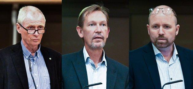 Fra venstre: Nils-Petter Wiik (Sp), Dag Bjerke (Frp) og Marius Winger (H).