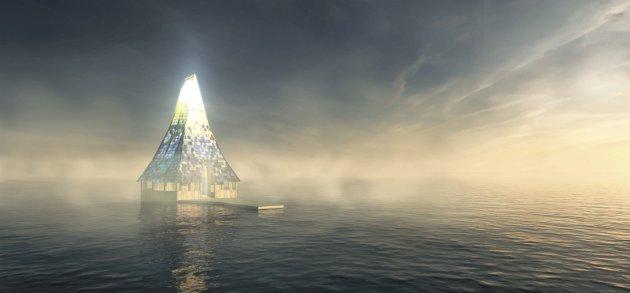 Symbolsk: Håpets katedral er et initiativ til en nasjonal dugnad for å reise et åndelig symbolbygg av innsamlet plast fra havet i regi av Borg biskop og bispedømmeråd.