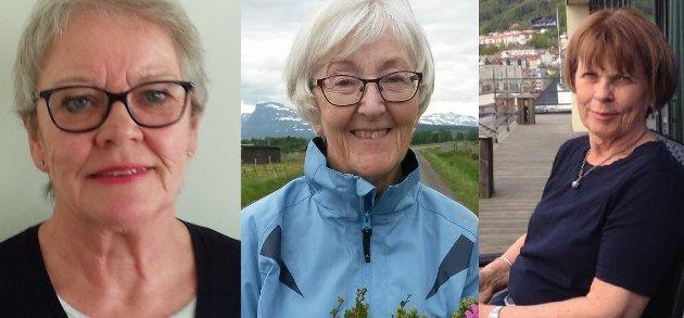 MARKERER 8. MARS: Bjørg Dalene, Grete Hagtvedt Vik og Ranveig Nordskog.