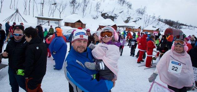 Bjarne Hagen med datteren Ingrid Regine