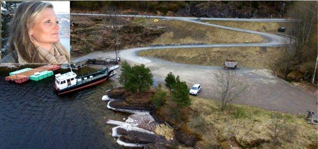 Utøya-kaia og Anne-Gry ruud innfeldt.