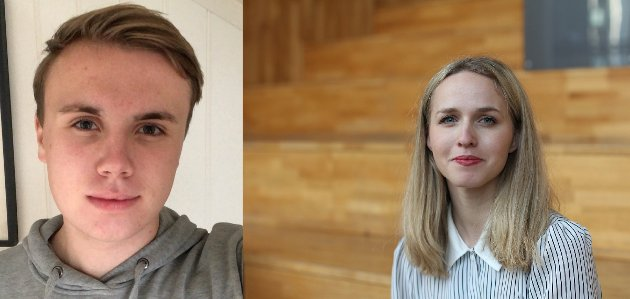 Jens Håkon Birkeland, fylkesleiar Vestland Unge Venstre og Ane Breivik, 2. Kandidat i Hordaland valkrins for Venstre.